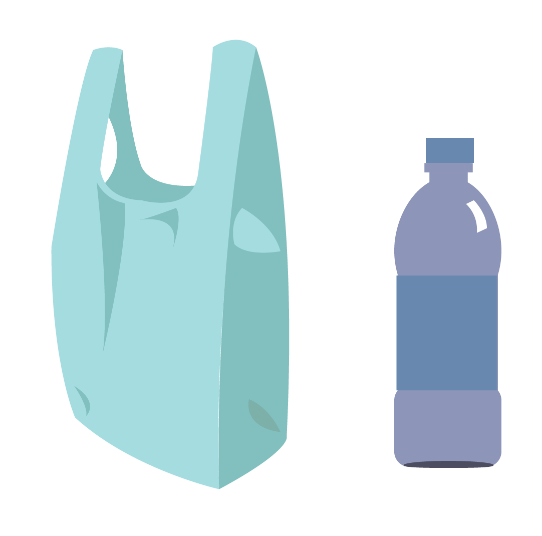 A Plastic Bag And Bottle