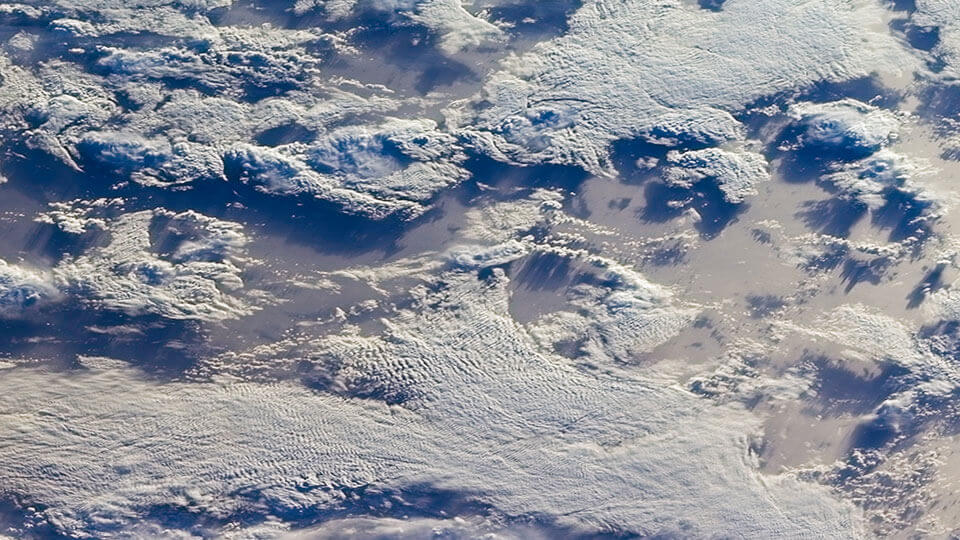 Image of clouds over the Southern Indian Ocean.
