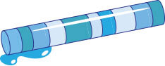 Illustration of an ice core.