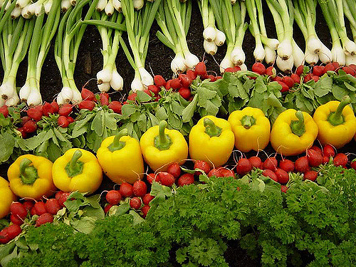 A photo of colorful vegetables