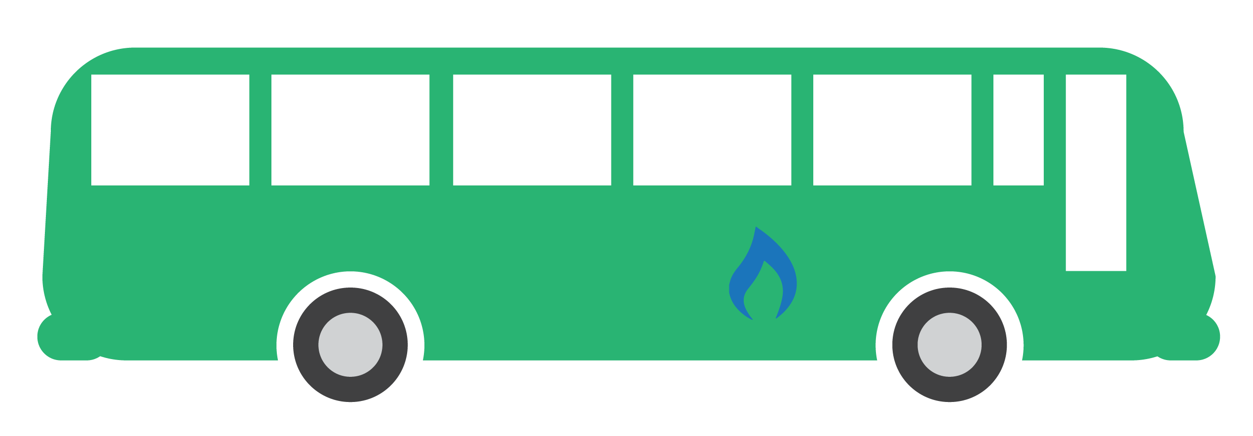 Natural gas-powered bus.