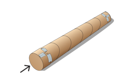 cartoon of a completed rainstick.