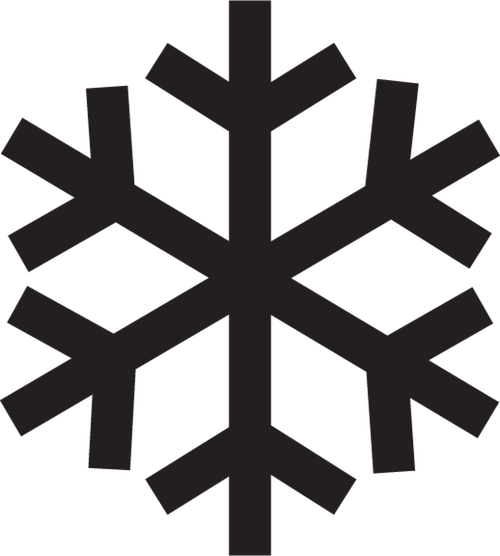 a black and white illustration of a snowflake