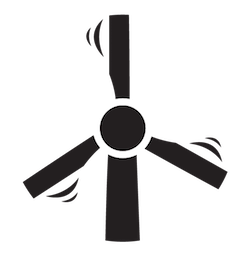 a black and white illustration of a windmill