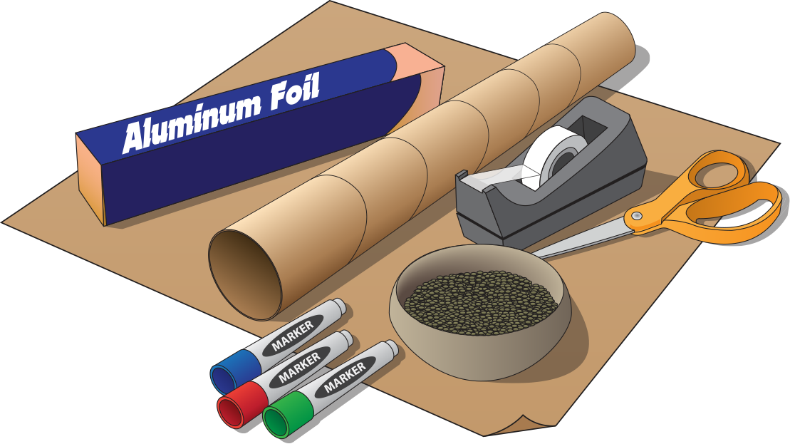 illustration of the required items