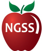 apple with the letters ngss