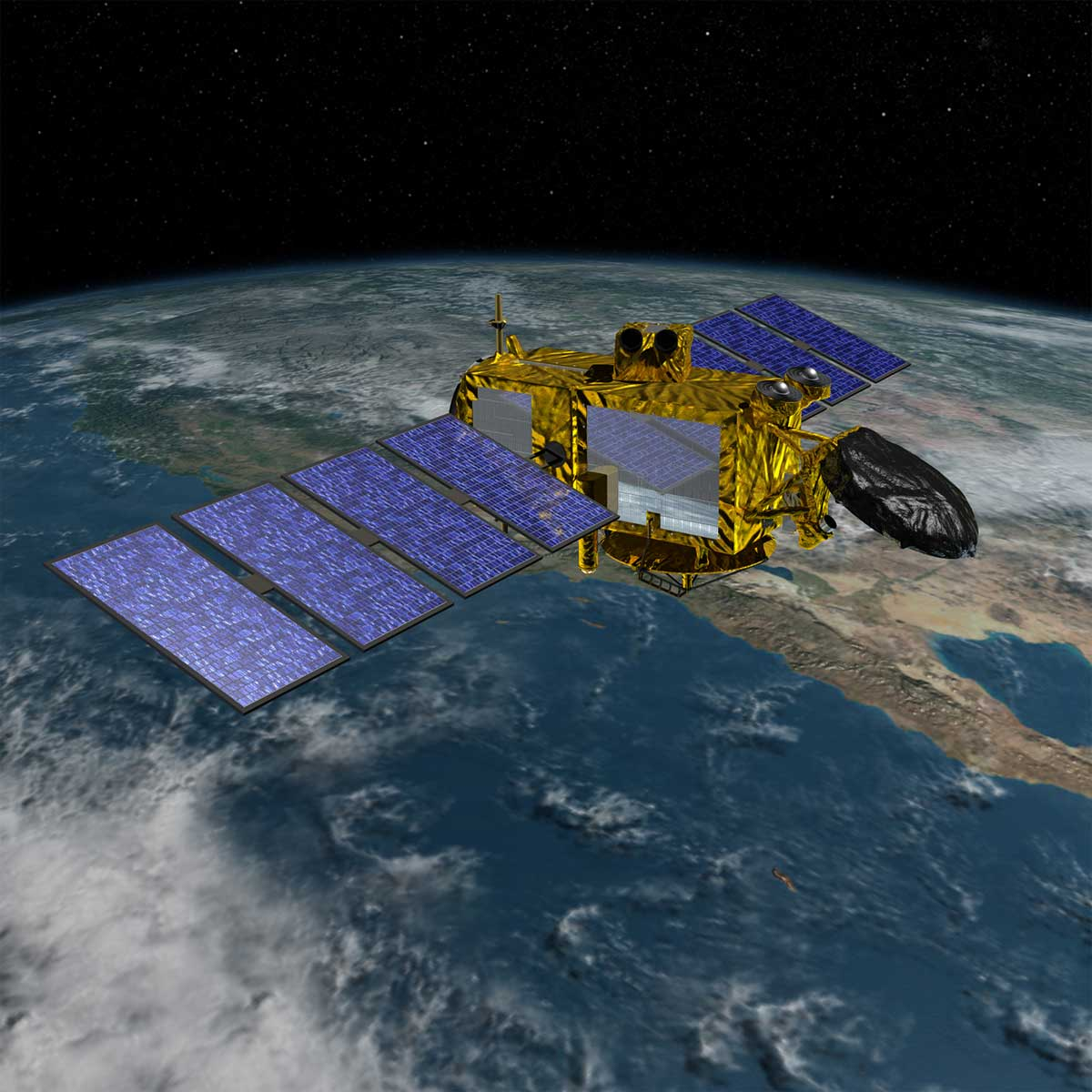 Illustration of the Jason-3 satellite