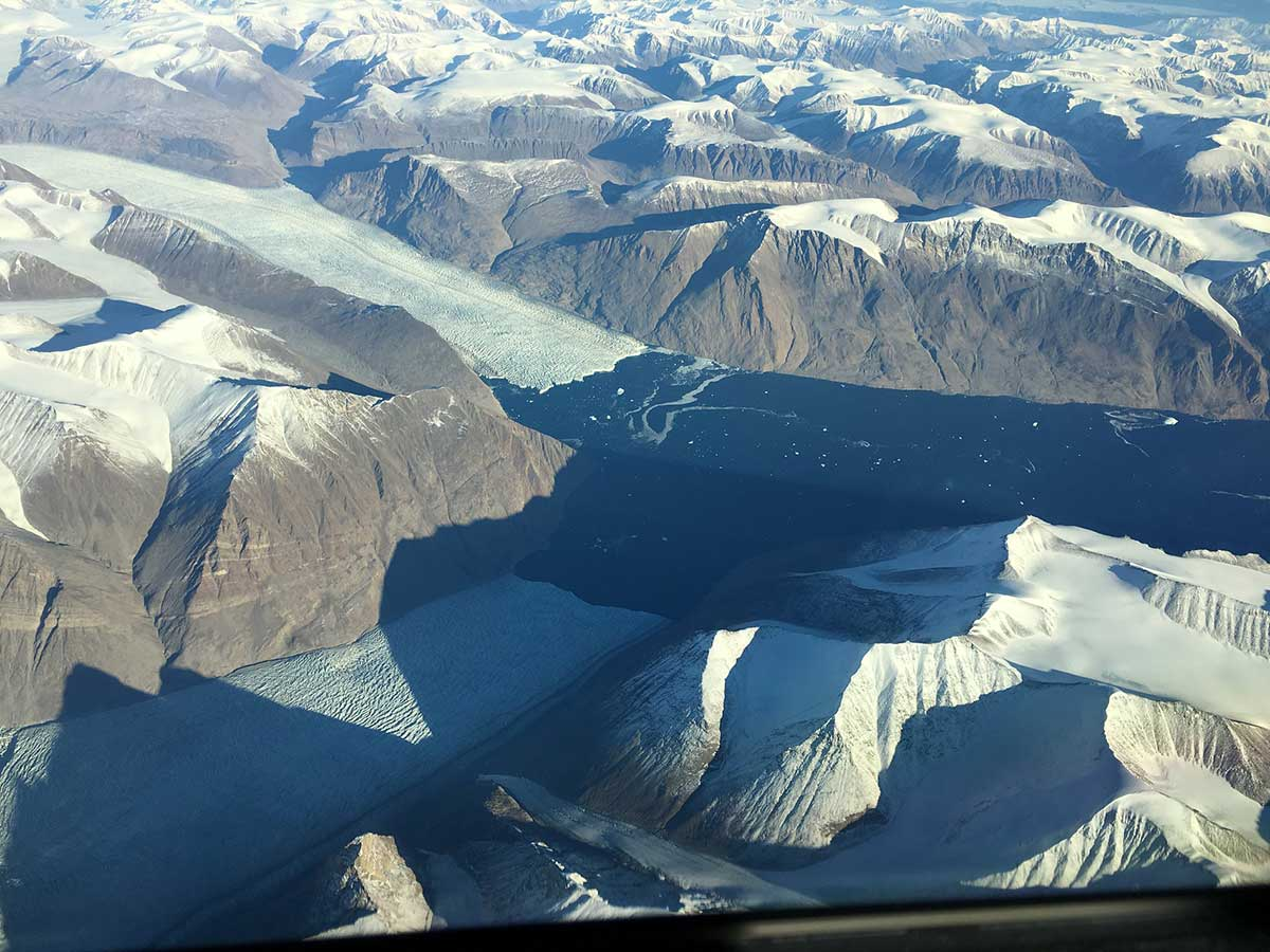 Glaciers in eastern Greenland